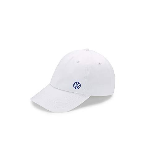 Volkswagen 000084300AT084 Basecap Kappe Cap Baseballcap weiß, mit neuem VW Logo