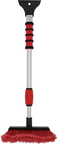 NIGRIN 6187 Eisschaber Auto Eiskratzer mit Schneebesen, teleskopierbar bis zu 66 cm lang