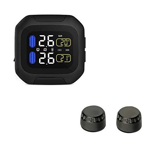Funihut CAREUD TPMS Reifendruck-Kontrollsystem Motor Auto Reifen Alarm Wireless Wasserdicht Mit 2...