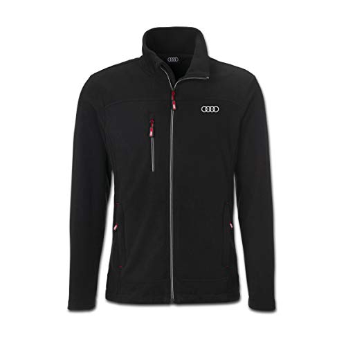 Audi collection 313170190 Audi Fleecejacke Herren schwarz, XL