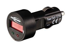 ANSMANN Power Check 12/24V Spannungsmesser / Prüfgerät und LED Voltmeter für Zigarettenanzünder /...