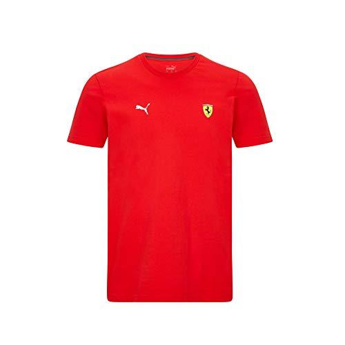 Ferrari - Offizielle Formel 1 Merchandise 2021 Kollektion - Herren - Small Shield Tee - Kurze Ärmel -...
