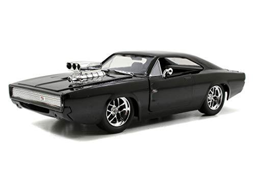 Jada Toys Fast & Furious Dom's 1970 Dodge Charger R/T, Auto, Spielzeugauto aus Die-cast, öffnende...