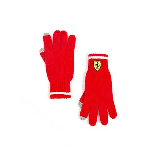 2018 Scuderia Ferrari Team Red Strickhandschuhe für Winter Erwachsene Unisex Einheitsgröße