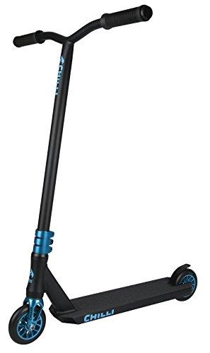 Chilli Stunt-Scooter Wave Reaper | Blau-Schwarzer Pro-Scooter für Einsteiger & Profis | Robuster Roller,...