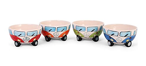 VW Bulli 4-TLG. Müslischalenset aus Keramik