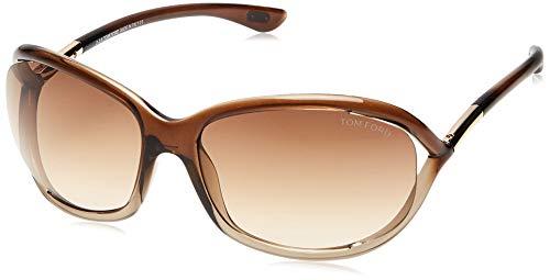 Tom Ford Damen FT0008 38F 61 Sonnenbrille, Gold (Bronzo/Altro/Marrone Grad)