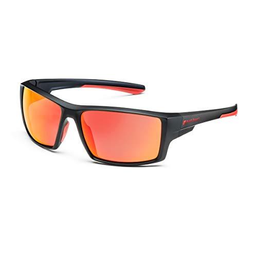 Audi Sonnenbrille, rot verspiegelt