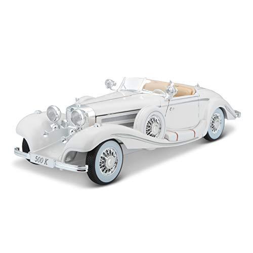 Maisto Mercedes 500 K Maharadjah, Modellauto mit Federung, Maßstab 1:18, Türen und Motorhaube...