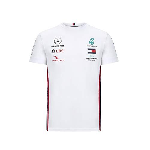 Mercedes-Benz Manner Mercedes AMG Petronas Team T-Shirt, Weis, Large 108cm/42in Chest