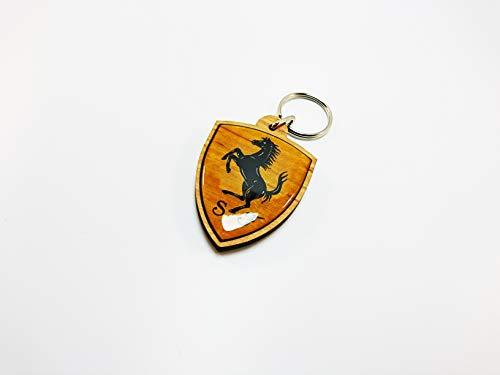 Ferrari Schlüsselanhänger (Massivholz)