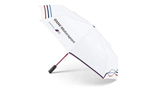 BMW Motorsport Regenschirm Taschenschirm mit Auf-Zu-Automatik, PU-Beschichtung, sturmfest bis 140km/h -...