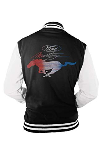 Offizielle lizenzierte Männer Vintage Ford Mustang Varsity Jacke