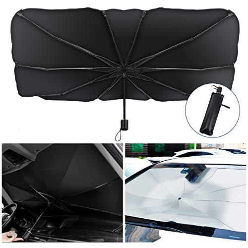 KIBTOY Auto Sonnenschirm, Faltbare Auto Frontscheibe Sonnenschutz, Auto Sonnenschutz Abdeckung UV-Block...