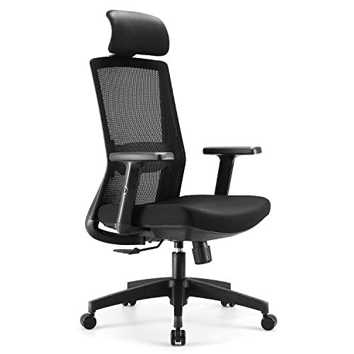 SIHOO Ergonomics Bürostuhl, Mesh Stuhl, Schreibtischstuhl, mit Verstellbarer Hubarmlehne und...