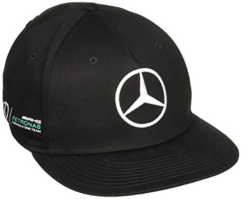 Mercedes AMG Petronas Herren MAMGP RP Flat Brim Cap Hamilton Black, schwarz, One Size