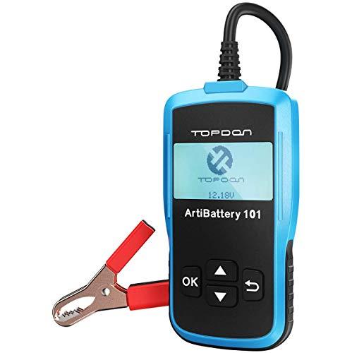 TOPDON AB101 Batterietester-Kfz-12V-6V universal Autobatterie-Tester für Kfz Motorrad LKW SUV etc,...