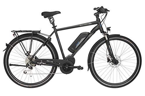 Fischer Herren - E-Bike Trekking ETH 1861.1, schwarz matt, 28 Zoll, RH 50 oder 55 cm, Mittelmotor 80 Nm,...