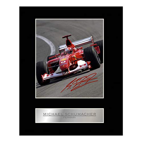 Michael Schumacher Signiert Foto Display Ferrari # 01