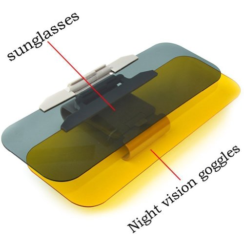 2 in 1Auto Sonnenblende, Sonnenschutz Auto, Transparente Autosonnenblende Blendfrei Autofenster...