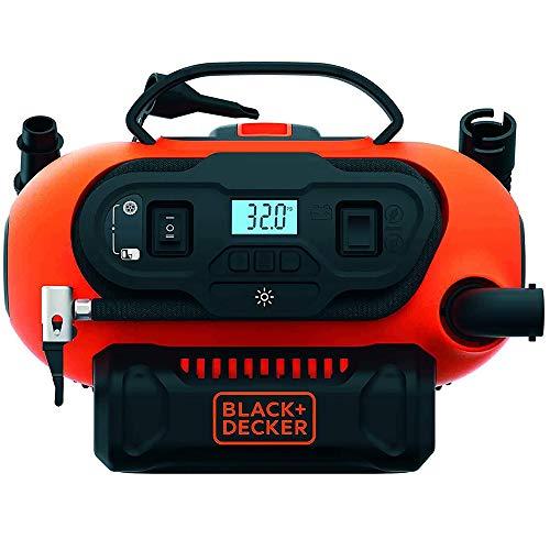 Black+Decker BDCINF18N-QS 11.0 Bar Kompressor/Luftpumpe (mögliche Stromquelle: 12V-/230V-Anschluss oder...