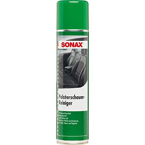 SONAX PolsterSchaumReiniger (400 ml) entfernt fasertief selbst hartnäckige Verschmutzungen aus Polstern,...