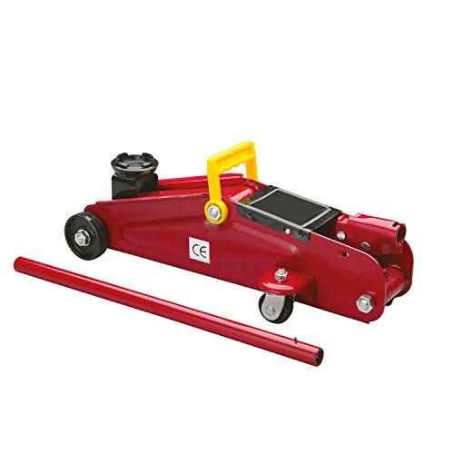 Cartrend 7740014 Hydraulischer Rangierwagenheber, 2 T Tragkraft, für Werkstatt und Hobby, gefertigt aus...