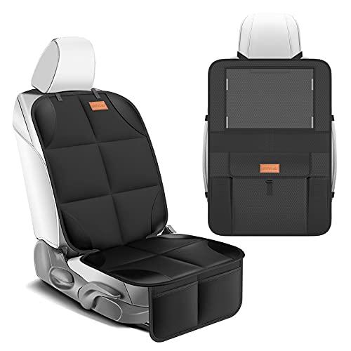 Smart eLf Kindersitzunterlage für Kindersitze - rücksitz organizer- Sitzbezugset vorne / hinten,...