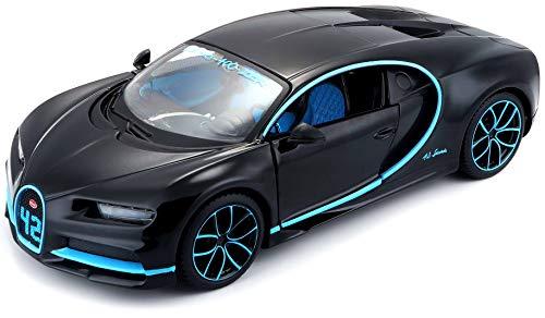 Maisto Bugatti Chiron: Originalgetreues Modellauto im Maßstab 1:24, bewegliche Türen, 19 cm, grau...