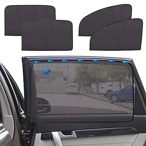 4-Stück Sonnenschutz Auto, Sonnenschutz Magnetisch für UV-Schutz, Hitzeschutz, Sonnenschutz Auto Baby,...
