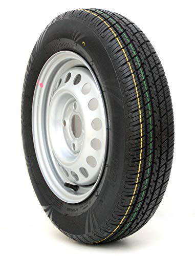 Komplettrad 145/80R13 79N 4x100, PKW Anhänger Rad Felge 4Jx13 Reifen 145 80 R 13 Anhängerrad