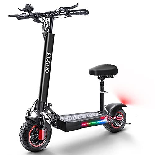 HUABANCHE Elektroroller Erwachsene E Scooter mit Sitz 55 km Lange Reichweite E Roller 500 W 48 V 16 Ah...