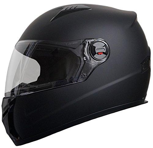 Integralhelm Helm Motorradhelm RALLOX 708 schwarz matt S M L XL Größe M