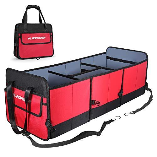 FLAGPOWER Auto Kofferraumtasche mit Befestigungsgurte,Universal Faltbare Auto Kofferraum Organizer KFZ...