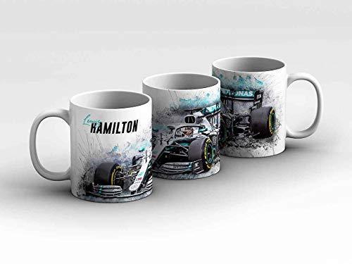 gasoline.gallery Formel 1 Tasse - Lewis Hamilton - Mercedes AMG Petronas Motorsport - Front weiß...