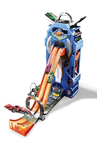 Hot Wheels GWT34 - City Power Parkgarage und Parkhaus für Kinder mit Rennbahn, Garage für +35 Autos...