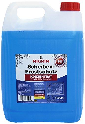 NIGRIN Scheiben-Frostschutz Konzentrat, unverdünnt bis -55° C wirksam, Frostschutzmittel auch für...
