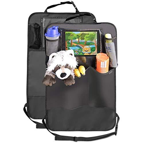 MyHappyRide Premium Rückenlehnenschutz (2 Stück), Große Taschen und iPad-/Tablet-Fach, Auto...