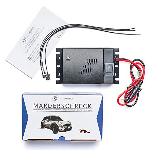 VON HAMELN® Marderschreck Auto - 1 STÜCK - Effektive Marderabwehr Auto mit Ultraschall - Sofortiger &...
