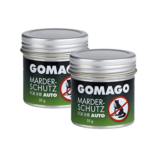 GOMAGO Marderschutz für Ihr Auto 2er Set | Zuverlässige und einfache Mardervergrämung durch Duftstoff...
