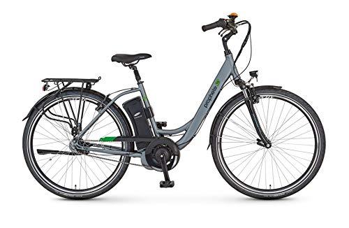 Prophete Damen GENIESSER e9.6 City E-Bike 26' Elektrofahrrad, Brilliant Silber matt, RH 46 cm