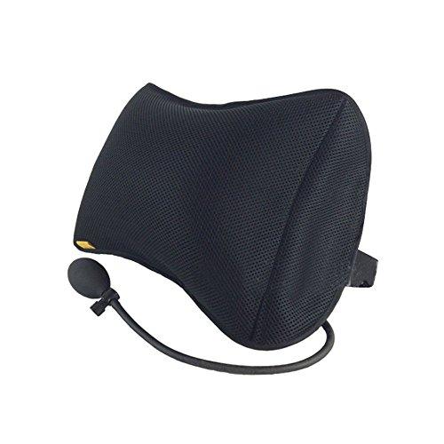 Tcare - Aufblasbare Kissen Lordosenstütze für Auto Home Office Stuhl Portable Kissen mit Pump Schwarz...