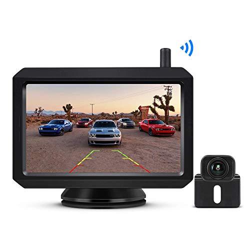 BOSCAM K7 Drahtlos Digital Rückfahrkamera Set mit Eingebautem Funksender, 5' LCD Monitor, Kabellose...
