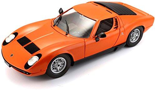 Bburago 1: 18Gold Lamborghini Miura (1968) (Farbe kann variieren)