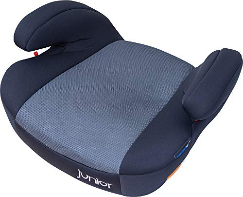 Petex 44430818 Kindersitzerhöhung Max Plus 152 inkl. Isofix, HDPE nach ECE R44/04, grau