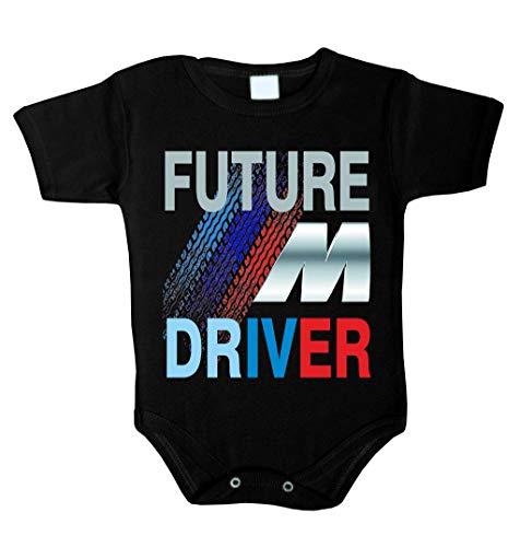 Future ///M Driver Baby Body Babykleidung Strampler Unterwäsche Weihnachts Geschenk (80 (12-18 m),...