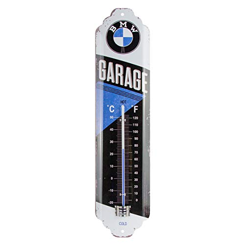 Nostalgic-Art Analoges Retro Thermometer BMW – Garage – Geschenk-Idee für Auto Zubehör Fans, aus...