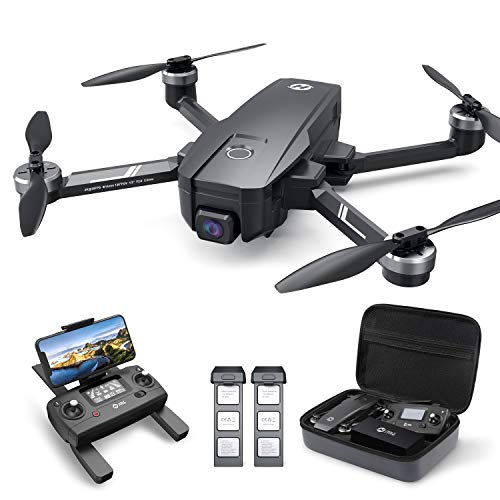 Holy Stone HS720E 4K EIS Drohne mit UHD Kamera und GPS Quadrocopter ferngesteuert mit 2 Akkus Lange...