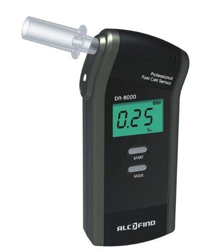 Alkoholtester Trendmedic Alcofind DA-8000 | mobiles digitales Atem-Alkoholmessgerät mit langzeitstabilen...