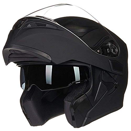 Helm für Motorräder Full-Face Motorcycle Helmet Tragbarer Integralhelme Flip-up Motorradhelm...